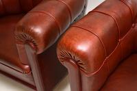 Pair of Antique Swedish  Leather Club Armchairs (9 of 11)