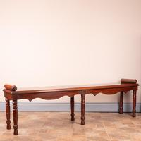 Large Late Victorian Mahogany Hall Bench Window Seat (4 of 11)