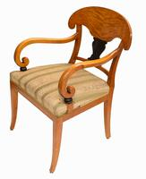 Pair of Biedermeier Armchairs Swedish Satin Birch Furniture c.1910 (10 of 10)