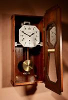 A vedette plain very stylish art deco westminster carillon walnut wall clock french circa 1935 (14 of 15)