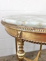 Gold Gilt Table with Circular Onyx Top (8 of 11)