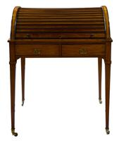 Satinwood Tambour Topped Desk c.1890 (3 of 10)