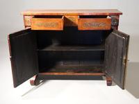 Very Fine Quality Slender Regency Brass Inlaid Side Cabinet (4 of 5)