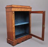 19th Century Walnut & Marquetry Pier Cabinet (4 of 11)