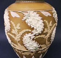 Splendid Royal Doulton Silicon Ware Vase c.1890 (5 of 6)