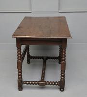 17th Century Bobbin Turned Oak Side Table (6 of 12)