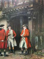 ''Before The Hunt'' Wonderful Large Vintage 18th Century Style Print on Board Picture (3 of 12)
