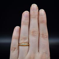 Antique Edwardian Old Cut Diamond Five Stone 18K Gold Ring (8 of 10)