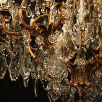 French 19th Century Bronze 24 Light Antique Chandelier (10 of 11)