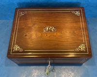 William IV Rosewood Box with Mother of Pearl Inlay (11 of 13)