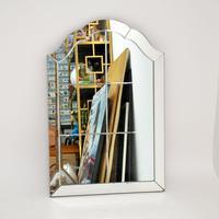 Art Deco Vintage Etched Mirror (2 of 7)