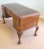 Quality Burr Walnut Kneehole Writing Desk (6 of 15)