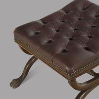 Regency Leather Footstool (2 of 3)