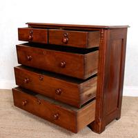 Walnut Chest of Drawers Victorian 19th Century (7 of 11)