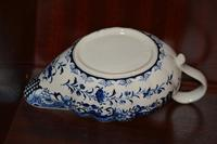 18th Century Derby Blue & White Chinoiserie Sauce Boat (6 of 12)