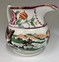 Antique Staffordshire Pottery Jug Country Sporting Pursuits c.1850 (9 of 9)