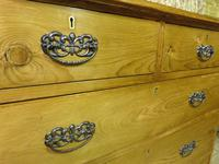 Lovely 2 Over 3 Victorian Stripped Pine Chest of Drawers with Fancy Pierced Metal Handles (4 of 9)