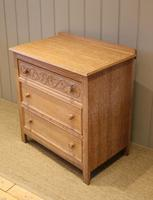 Small Limed Oak Chest of Drawers (9 of 10)