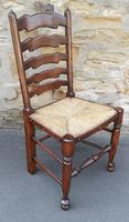Set of 12 Oak Ladder Back Dining Chairs - Royal Oak Furniture (5 of 15)