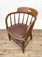 Antique Desk Chair with Leather Seat (8 of 10)
