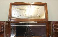 Antique Impressive Burr Oak Cocktail Drinks Cabinet (5 of 16)