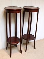 Pair of Edwardian Mahogany Jardinière Stands (5 of 10)