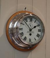 Nickel Plated Ships Bulkhead Clock (2 of 5)