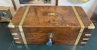 Victorian Brass-bound Walnut Writing Slope with Secret Drawers (2 of 39)
