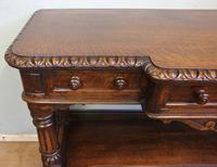 Antique Oak Victorian Shaped Sideboard Server (7 of 15)