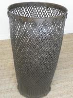 Tall Iron Lattice Waste Paper Basket (6 of 6)