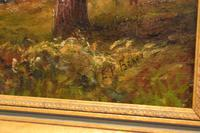 River Landscape Oil Painting by E.P.Baker (3 of 6)