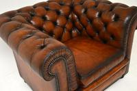 Antique Victorian Style Leather Chesterfield Armchair (6 of 8)