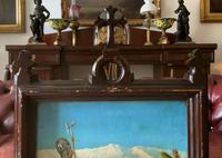 Lovely 19th Century Religious Old Master Christ & Cross Oil Painting - Set 14 Available (14 of 19)
