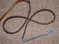 Hallmarked 1933 Silver J.HOWELL Ladies / Youths Hunt Whip W / Leather Thong (2 of 10)