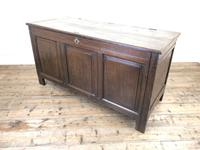 Antique 18th Century Oak Coffer with Panel Front (10 of 14)