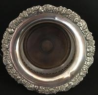 Georgian Silver Plated Deep Bottle Coaster (4 of 4)