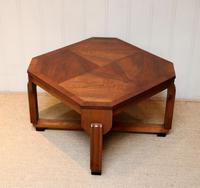 Low Walnut Art Deco Table (3 of 12)