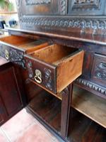 Country Oak Marquetry Inlaid Court Cupboard 1770 (7 of 10)