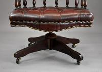Ox Blood Leather Office Chair (10 of 10)