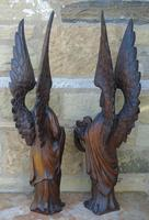 Good Pair of Carved Oak Angels 19th Century (4 of 12)