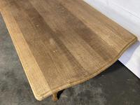 Bandy Leg French Bleached Oak Farmhouse Table (6 of 15)