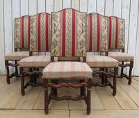Set of Six French Oak Dining Chairs (9 of 9)