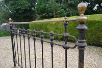 Original Victorian Brass and Iron King Size 5ft Bedstead. Bed Fully Restored in Your Choice of Colour (4 of 15)