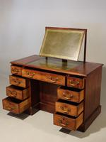 Fine George III Period Mahogany Kneehole Architects Desk (2 of 5)