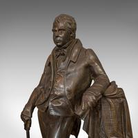 Antique Figure, Sir Walter Scott, Bronze, Statue, Poet, Victorian c.1880 (7 of 12)