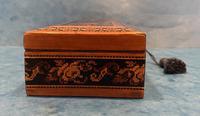 Victorian Satinwood Glove Box With Tunbridge Ware Inlay (9 of 12)