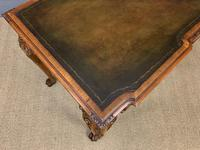 Excellent Queen Anne Style Burr Walnut Writing Table (11 of 16)