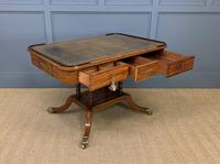 Fine Regency Inlaid Mahogany Library Table (5 of 16)