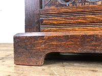 Antique Carved Oak Monk's Bench (5 of 10)