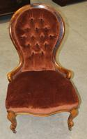 1910s Mahogany Mummy Armchair in Rust Upholstery